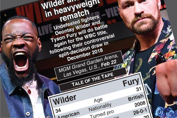 Feb 22: Wilder-Fury WBC heavyweight title fight