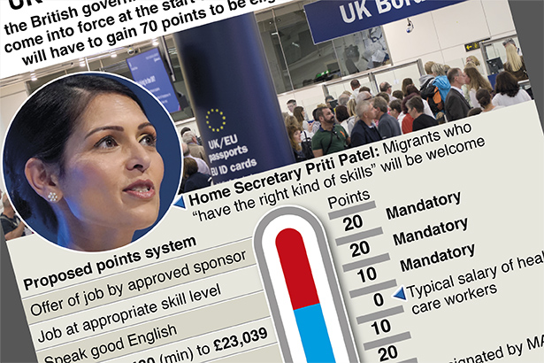UK points-based visa system announced