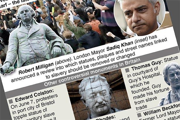 British slavery-linked statues under threat