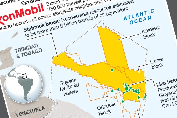Potential oil riches off coast of Guyana