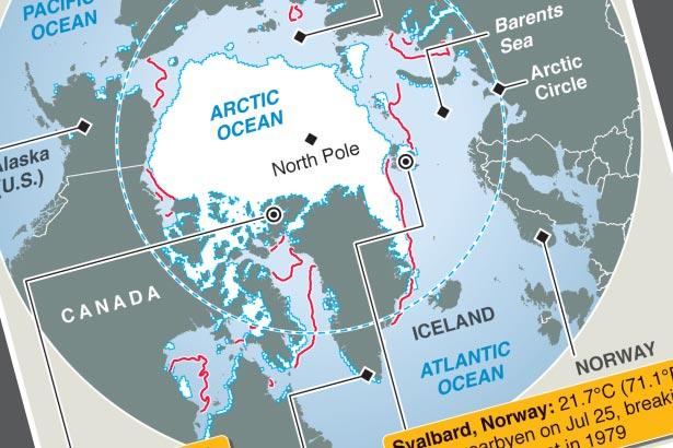 Extreme Arctic heat impacting sea ice
