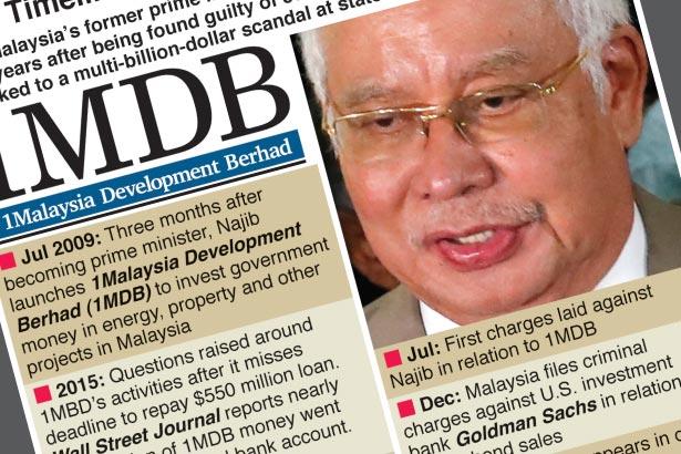 Malaysian ex-PM Najib found guilty in 1MDB scandal