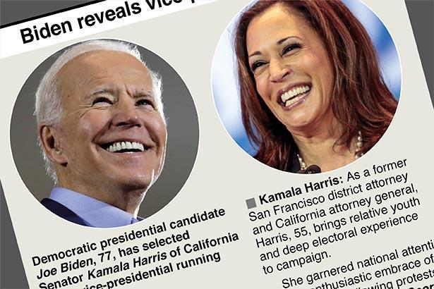 Kamala Harris brings legacy to Biden ticket