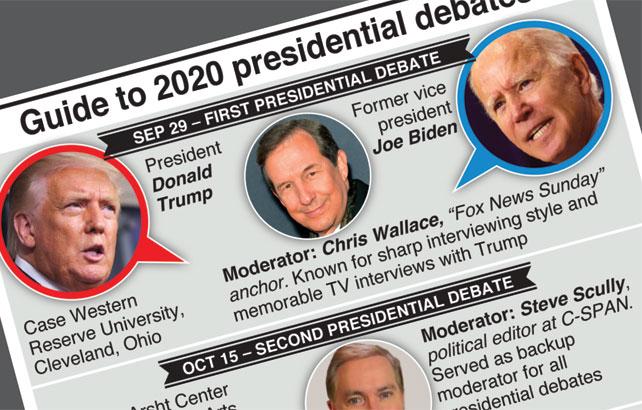Trump and Biden go head-to-head in three debates