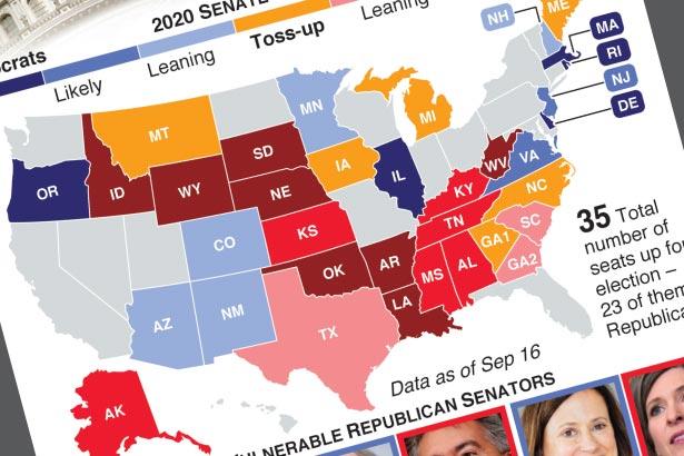 Key U.S. Senate races in 2020
