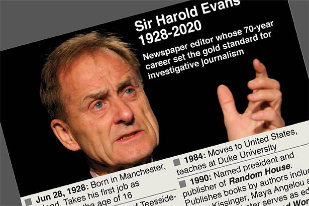 Sir Harry Evans, esteemed newspaper editor, dies