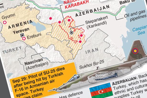 Armenia accuses Turkish fighter jet of downing warplane