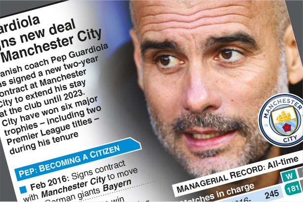 Nov 19: Guardiola signs new deal at Manchester City