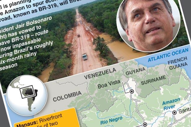 Brazil highway threat to Amazon biodiversity