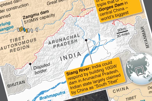 China plans mega-dam on Brahmaputra River