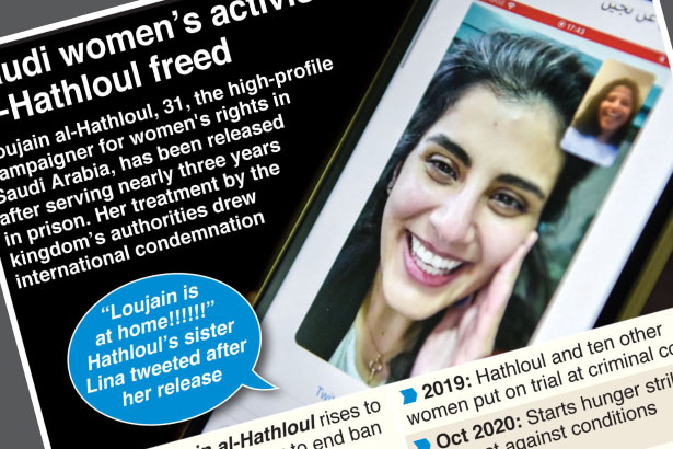 Saudi women's rights activist released from prison