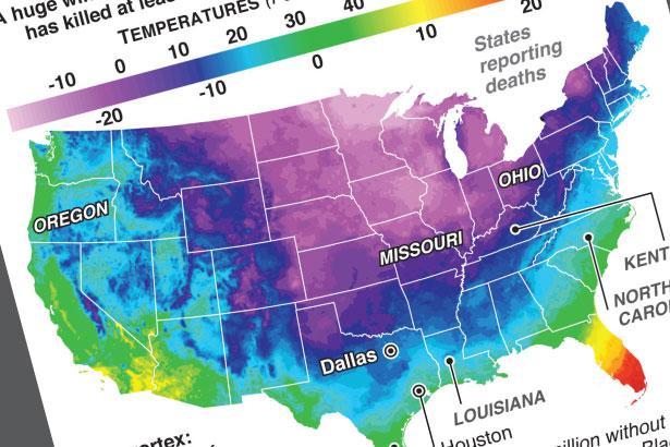 Polar vortex engulfing the U.S.