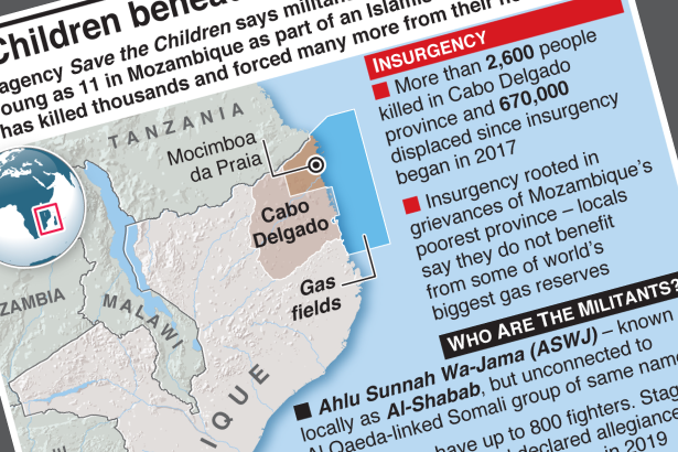 Children reportedly beheaded in Mozambique