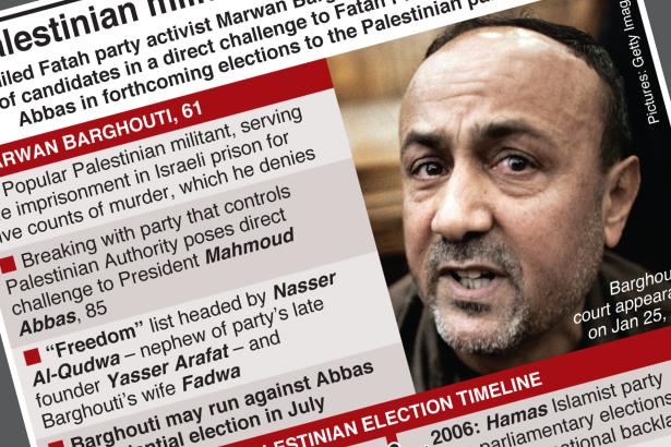 Barghouti announces run against Abbas