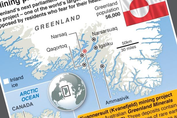 Major mining project takes centre stage in Greenland vote