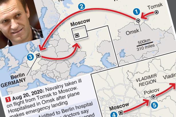 Alexei Navalny's road to prison hospital
