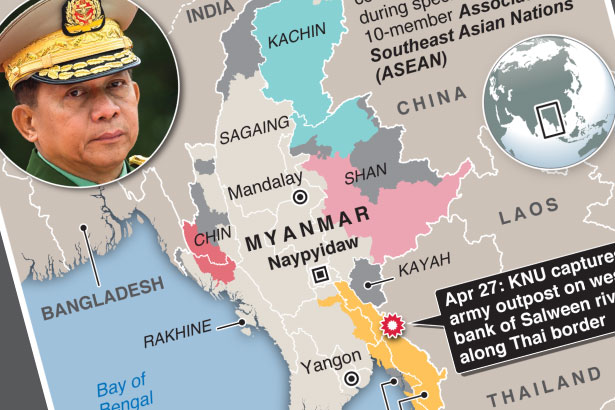 Armed rebels in Myanmar seize military outpost