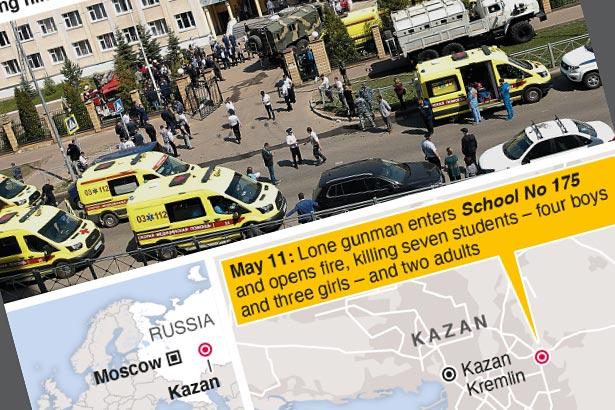At least nine people killed in Russian school shooting