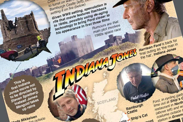Harrison Ford spotted filming Indiana Jones 5 in UK