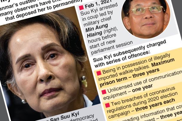 Ousted Myanmar leader on trial