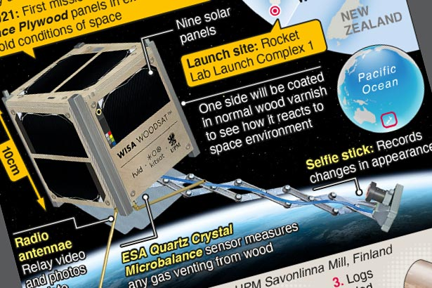 """Innovative wooden satellite is """"go for launch"""" at end of year"""