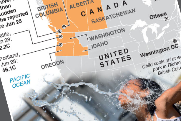 Scores dead as heatwave scorches Canada and U.S.