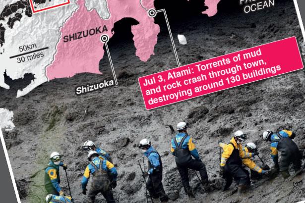 Huge search after Japan mudslide
