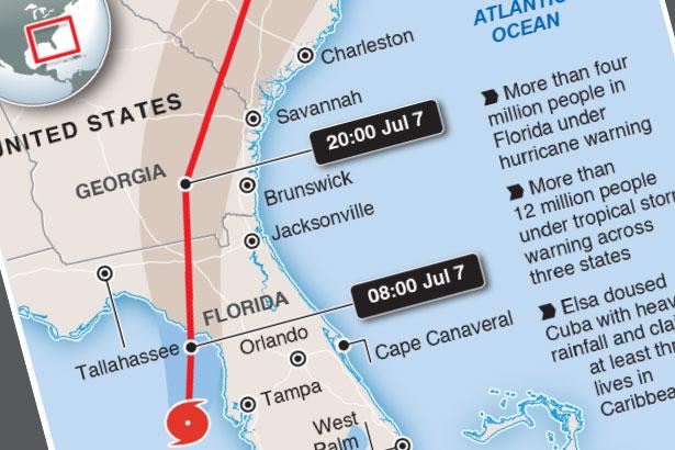 First hurricane of season hits U.S.