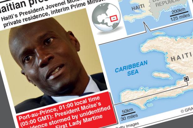 Haitian President Jovenel Moise assassinated