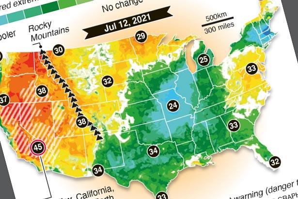 U.S. excessive heat warnings