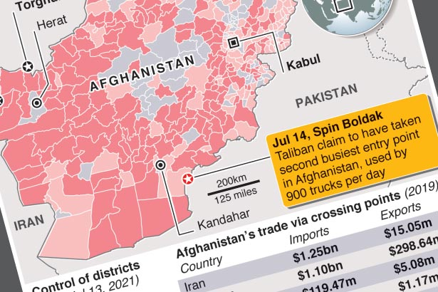 Afghan Taliban seize border crossing with Pakistan