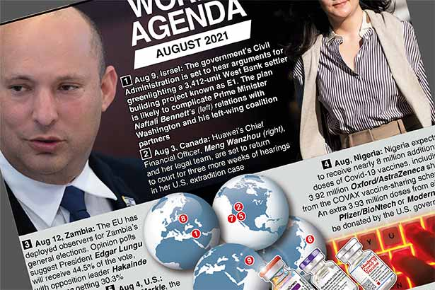 World events in August – print version
