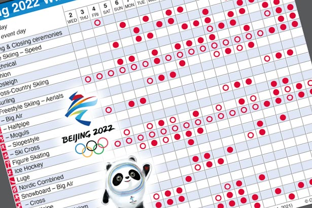 Feb 4-20, 2022: Winter Olympic events schedule