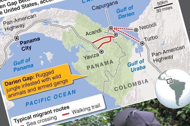 Number of children crossing Darien jungle hits record high